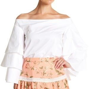 New Endless Rose White Off Shoulder Top Small 4 S